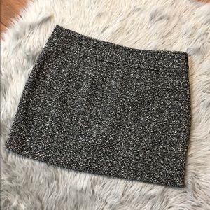 J Crew Mini Tweed Grey WoolBlend Skirt